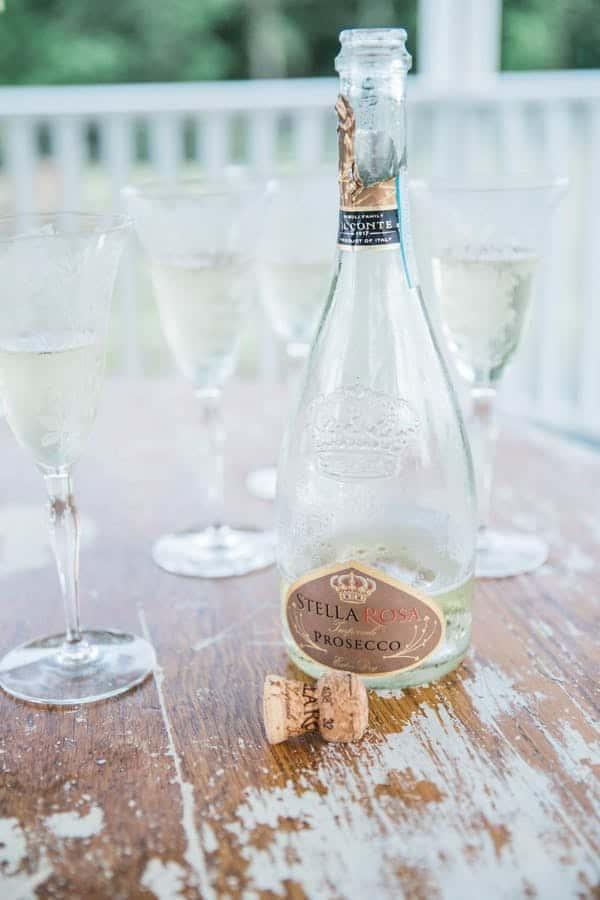 prosecco and champagne glasses