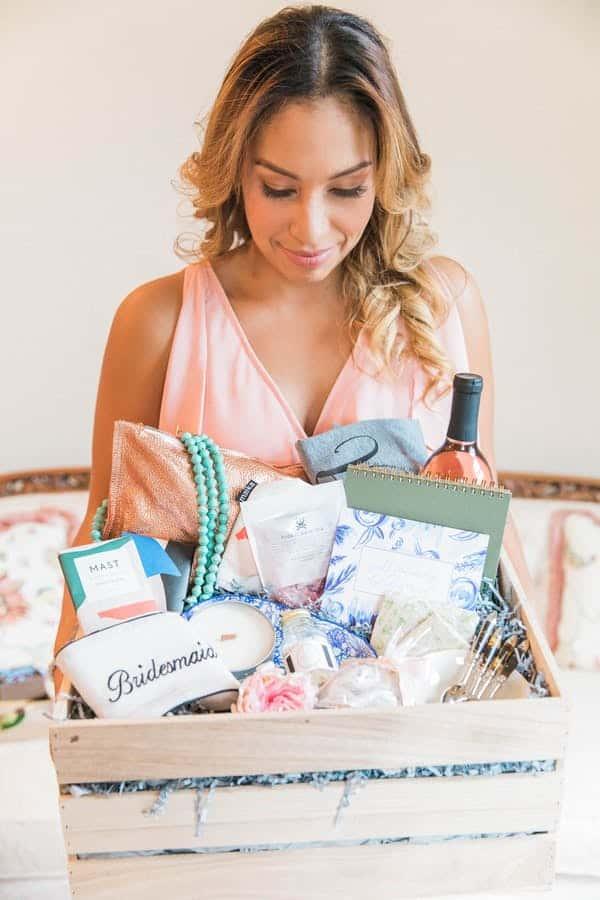 bridesmaid holding basket