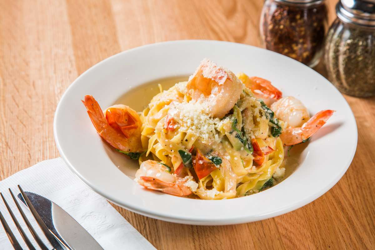 Fettuccini With Shrimp or Salmon