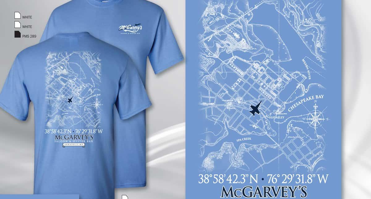 Map T - Carolina Blue