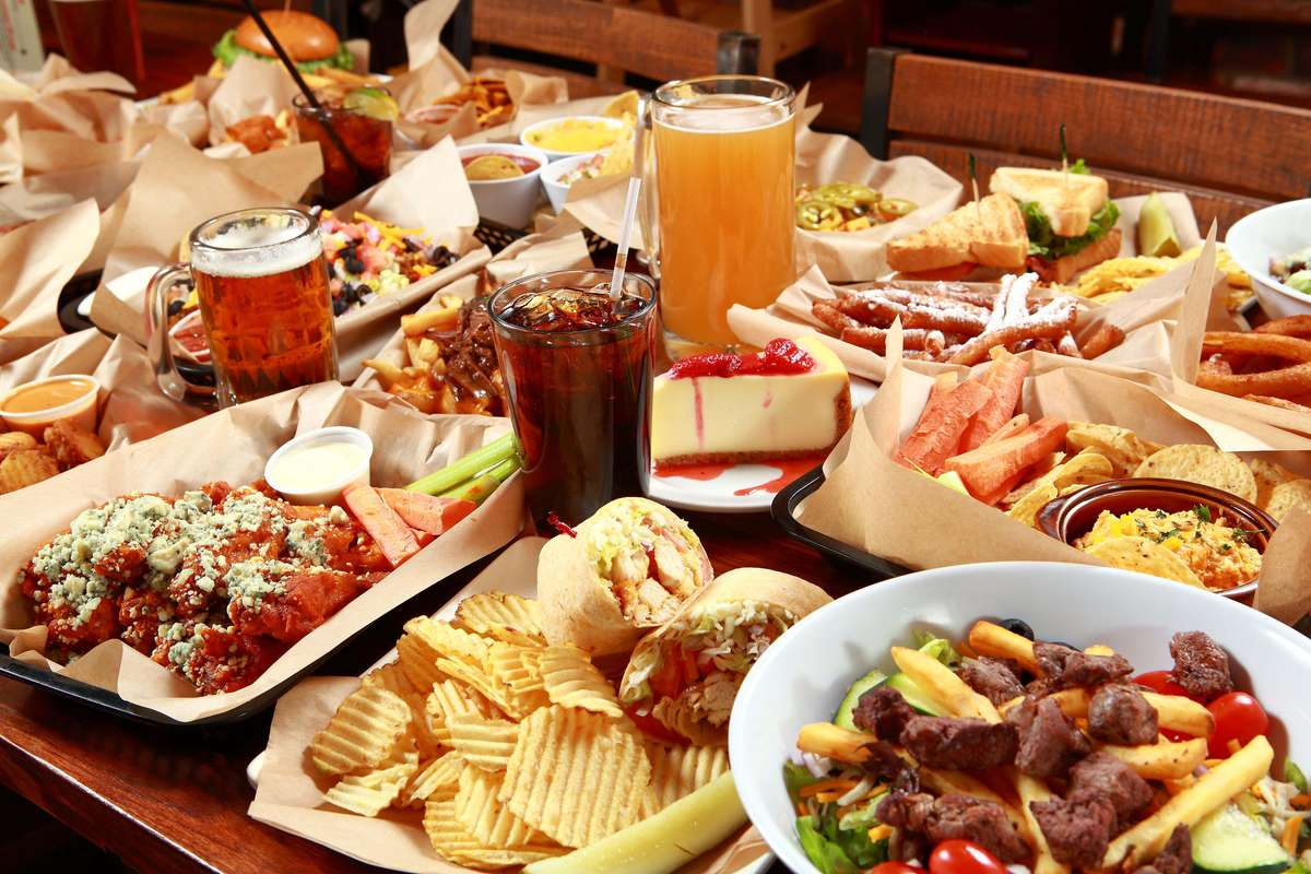 all the food