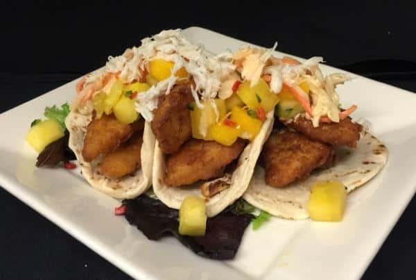 fried mahi fish tacos