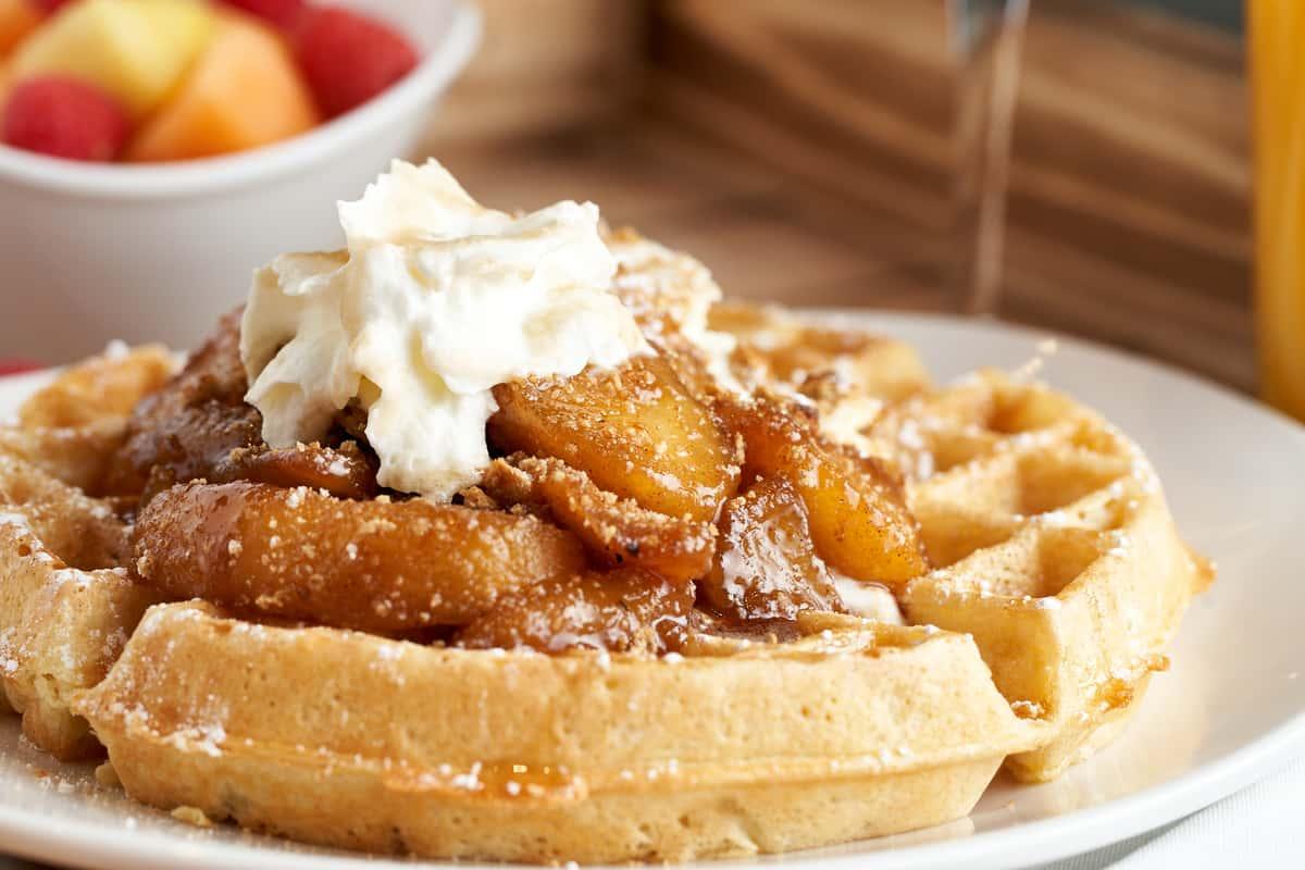 Apple Cobbler Waffle
