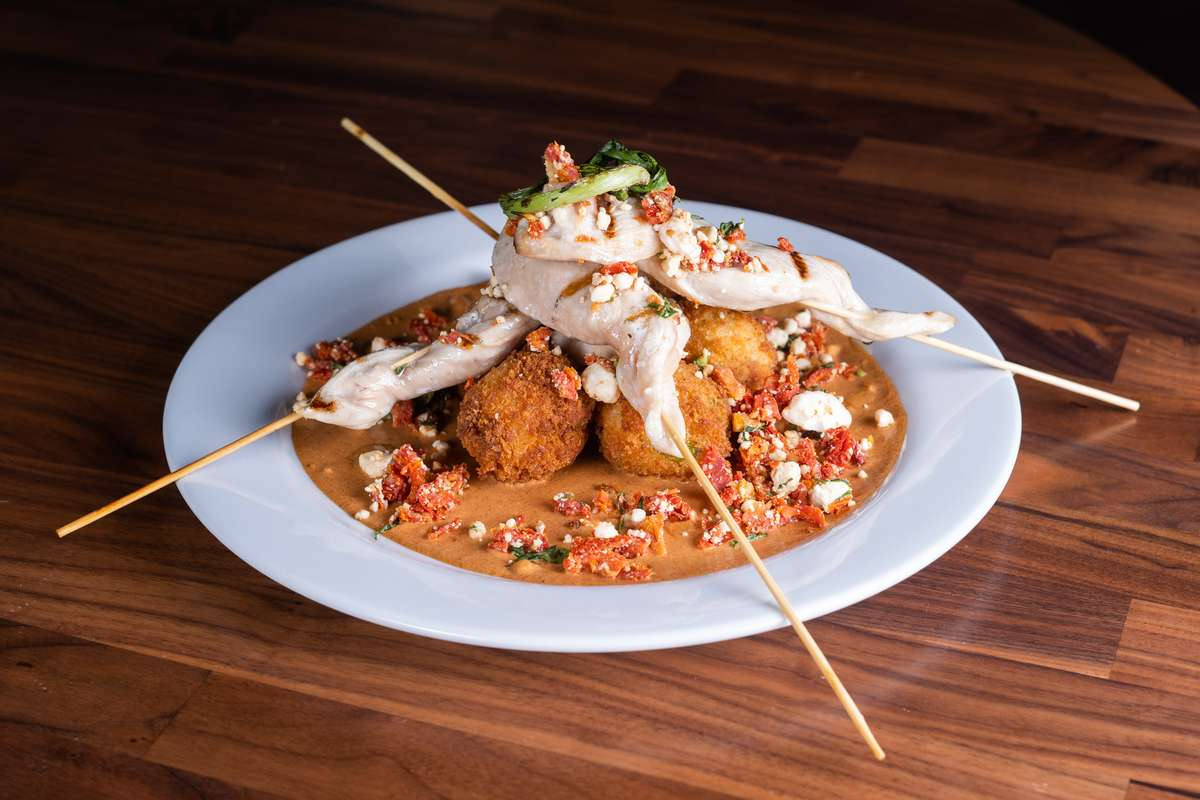 Curry Chicken Skewers and Rice Dumplings