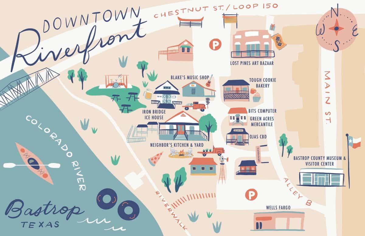 riverfront map
