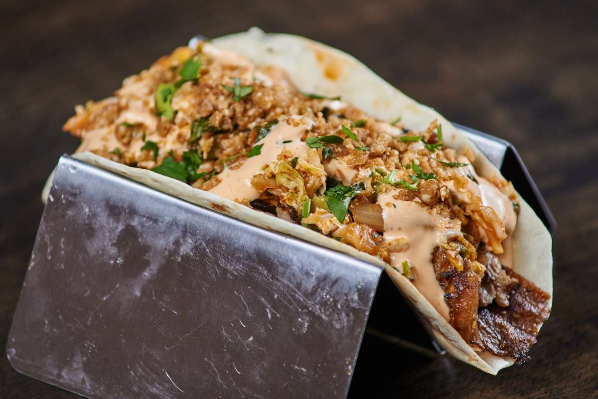 Korean BBQ Pork Belly Taco