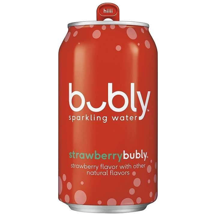 Bubly Strawberry Mineral Water
