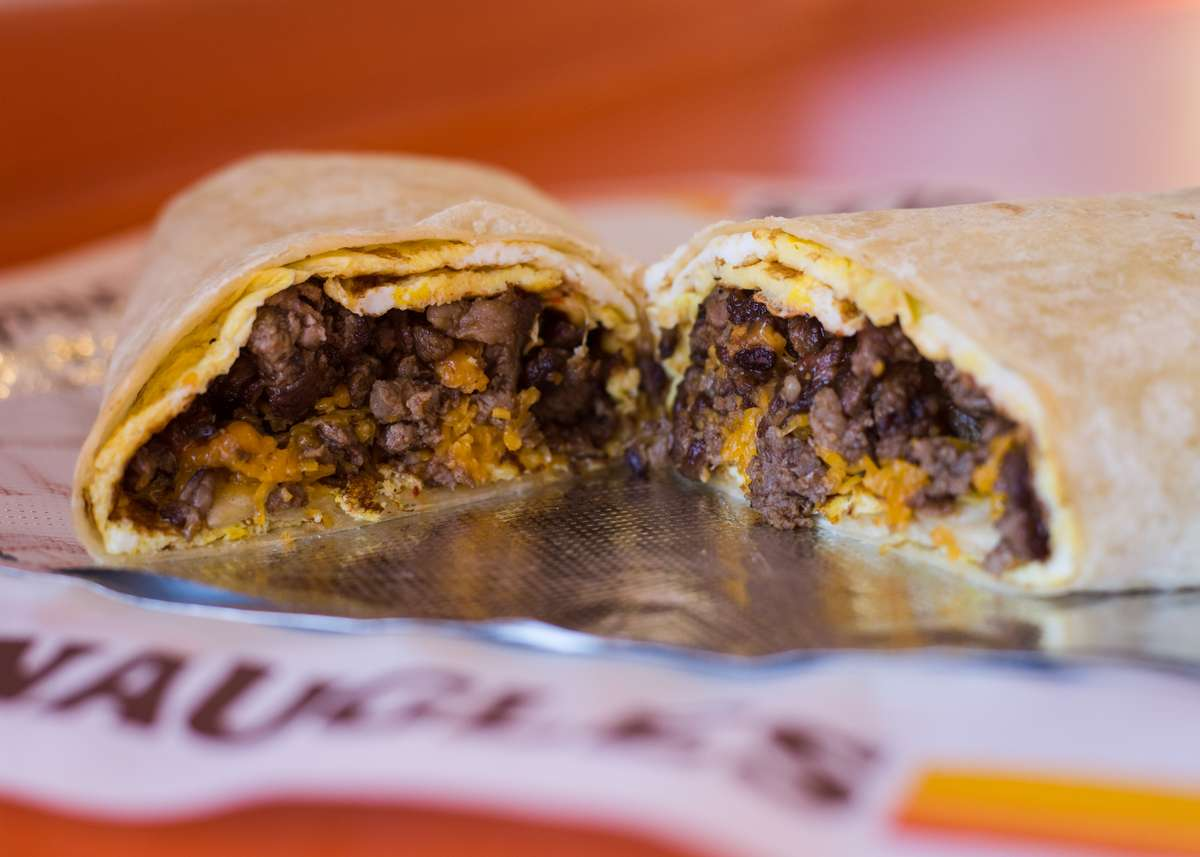 steak and egg burrito