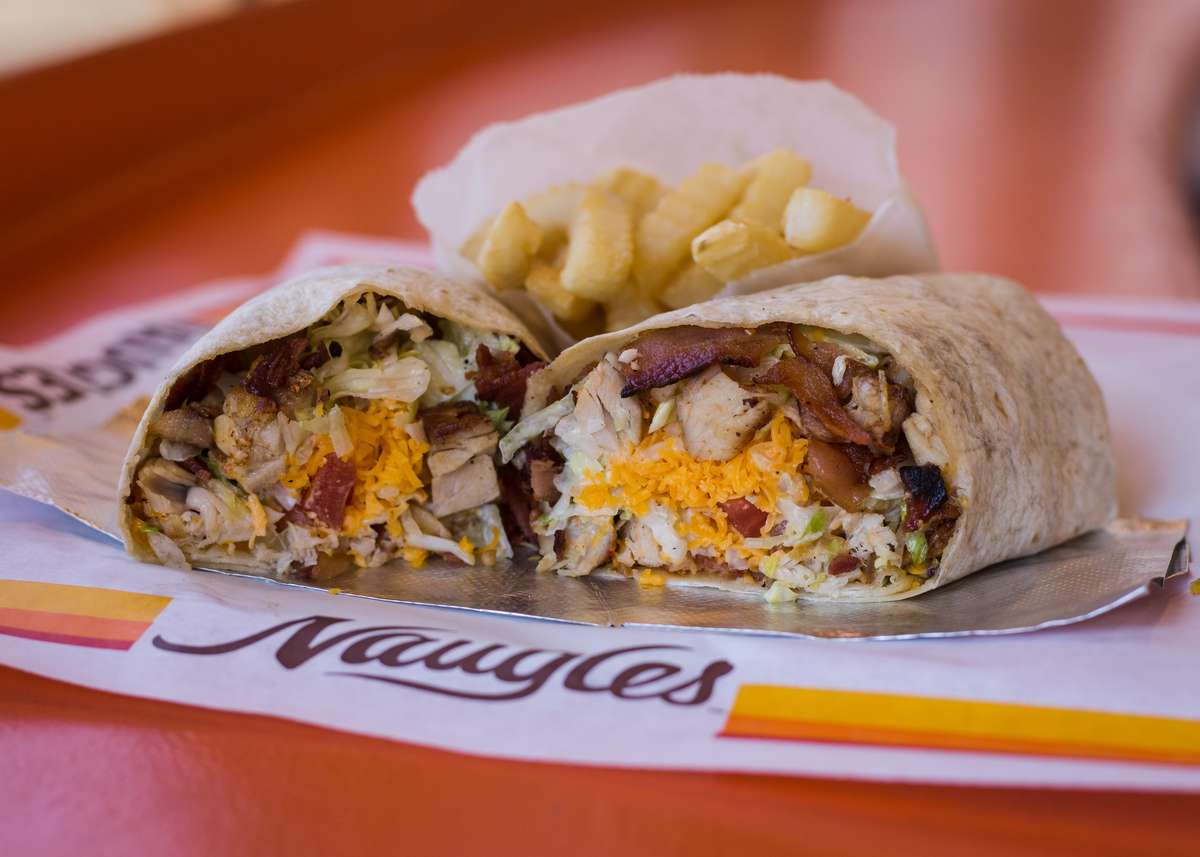 chicken club burrito