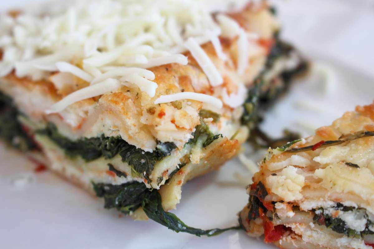 Spinach & Goat Cheese Lasagna