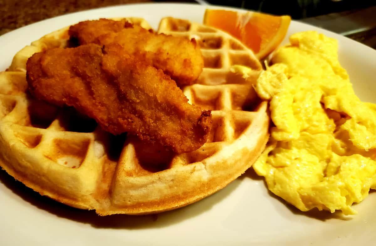 Chicken-Waffle & Eggs*