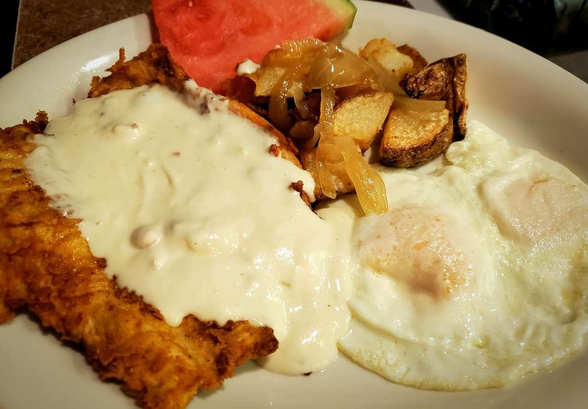 Chicken Fried Chicken & Eggs*