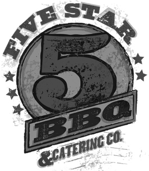 five star bbq and catering co logo