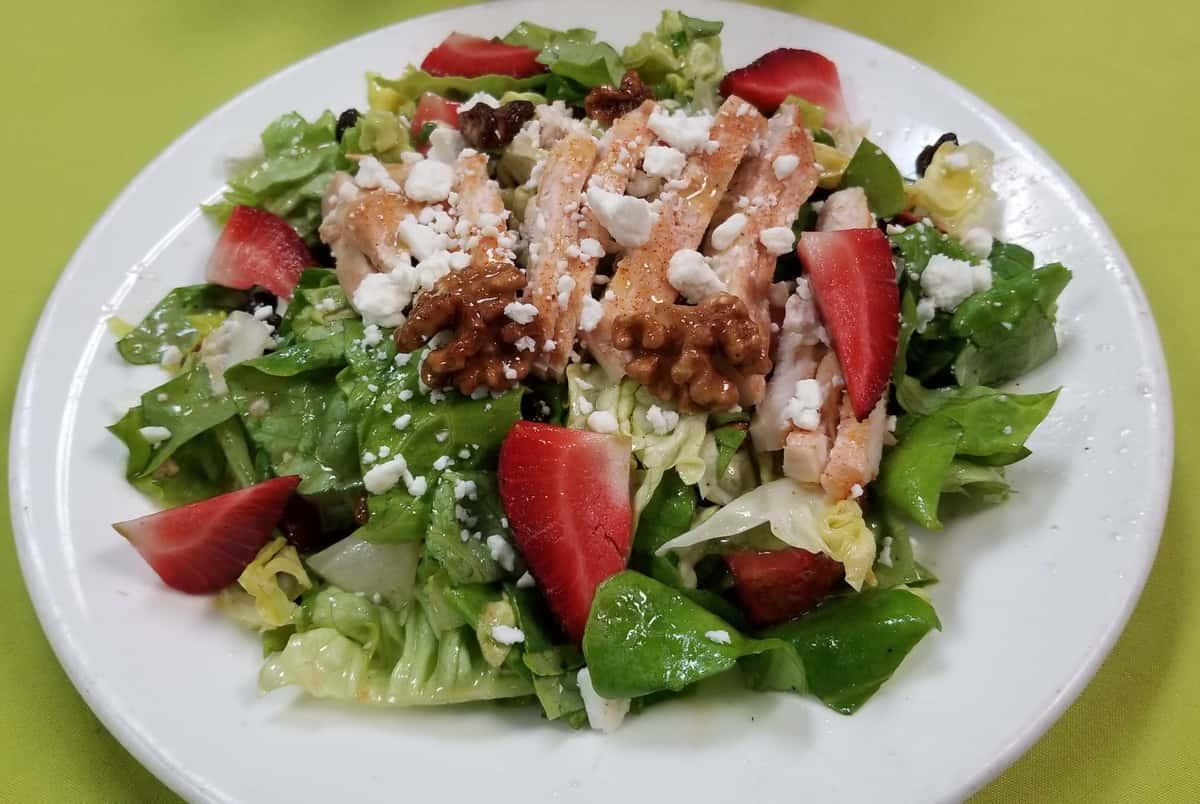 Strawberry Salad with Lemon Dijon Vinaigrette