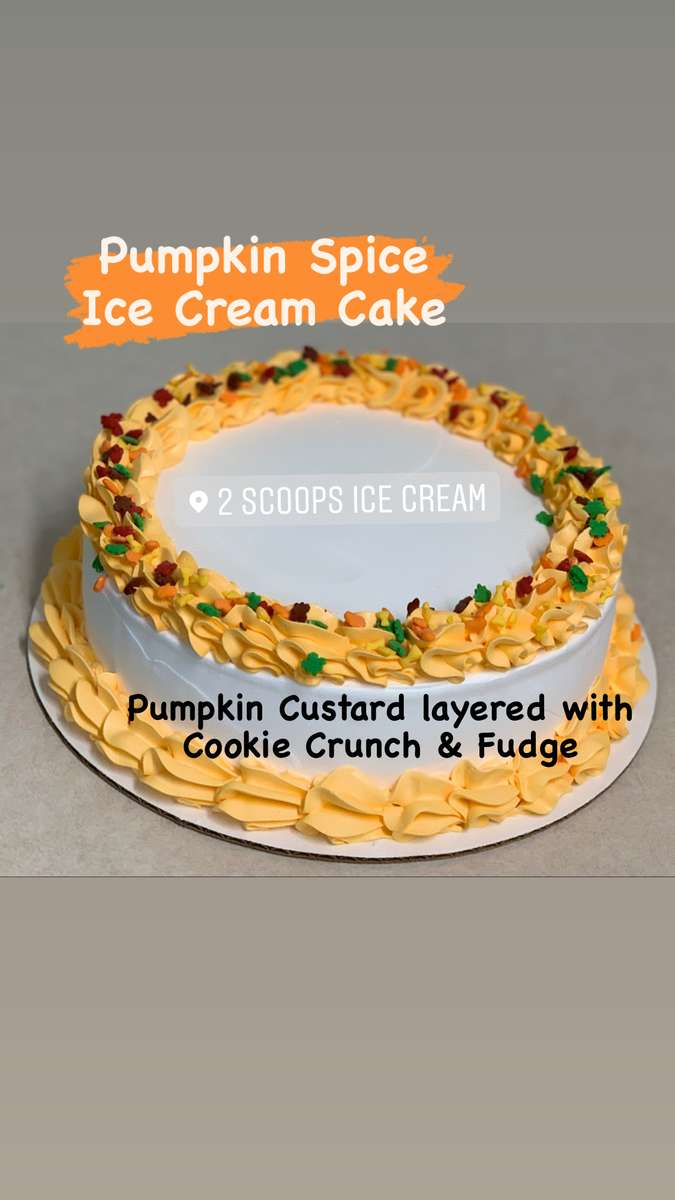 Pumpkin Spice Ice Cream Cake - *Available in the Fall only*