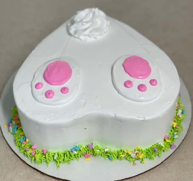 Bunny Butt Ice Cream Cake