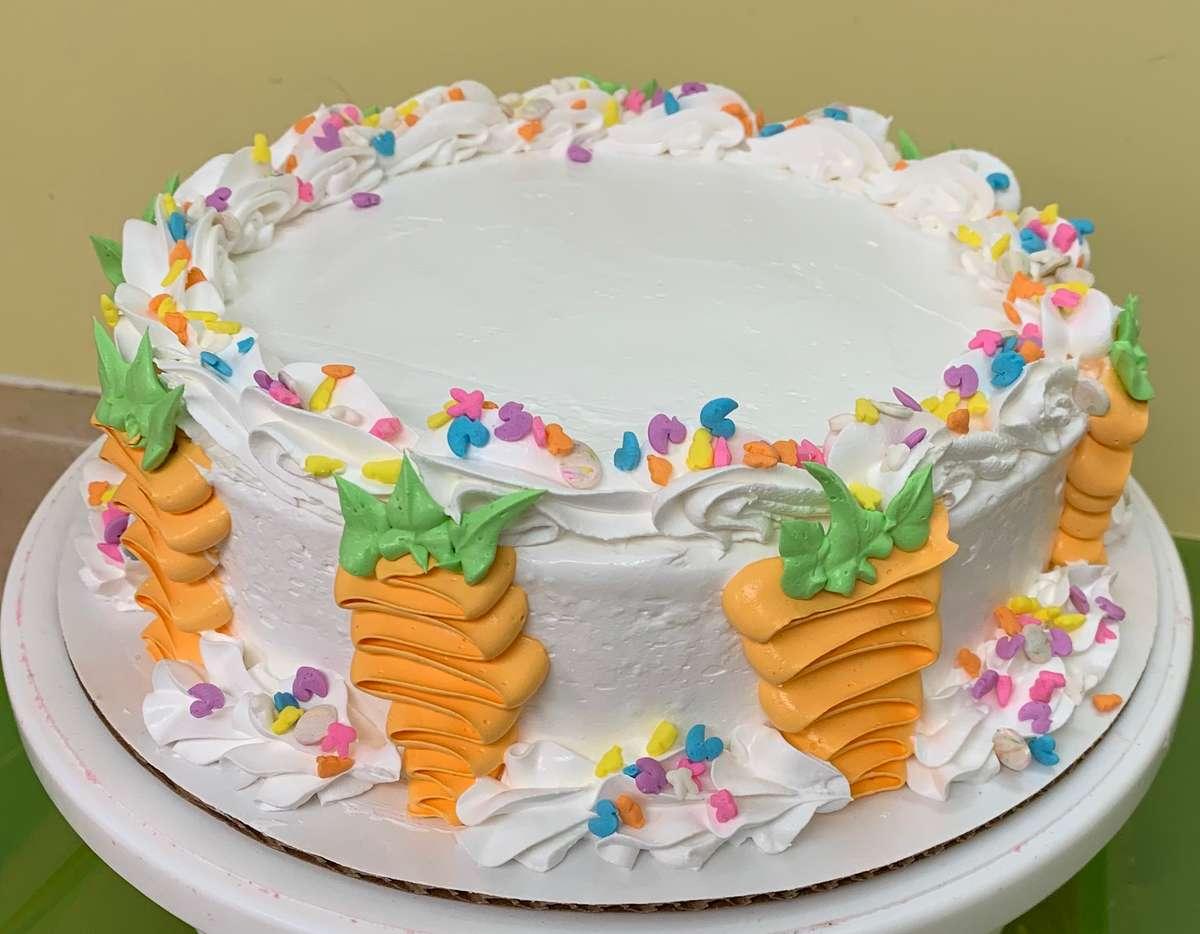 Easter Carrot Ice Cream Cake