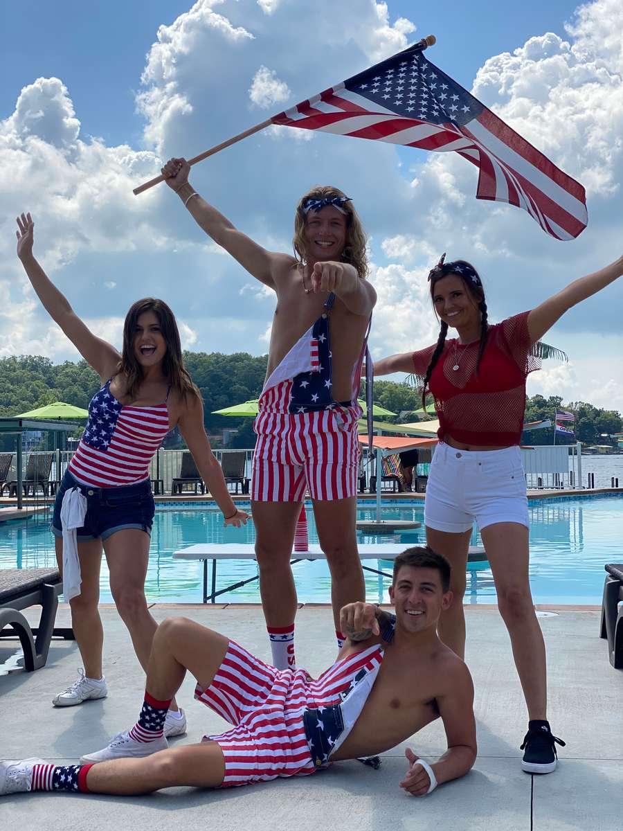 group of patriotic people