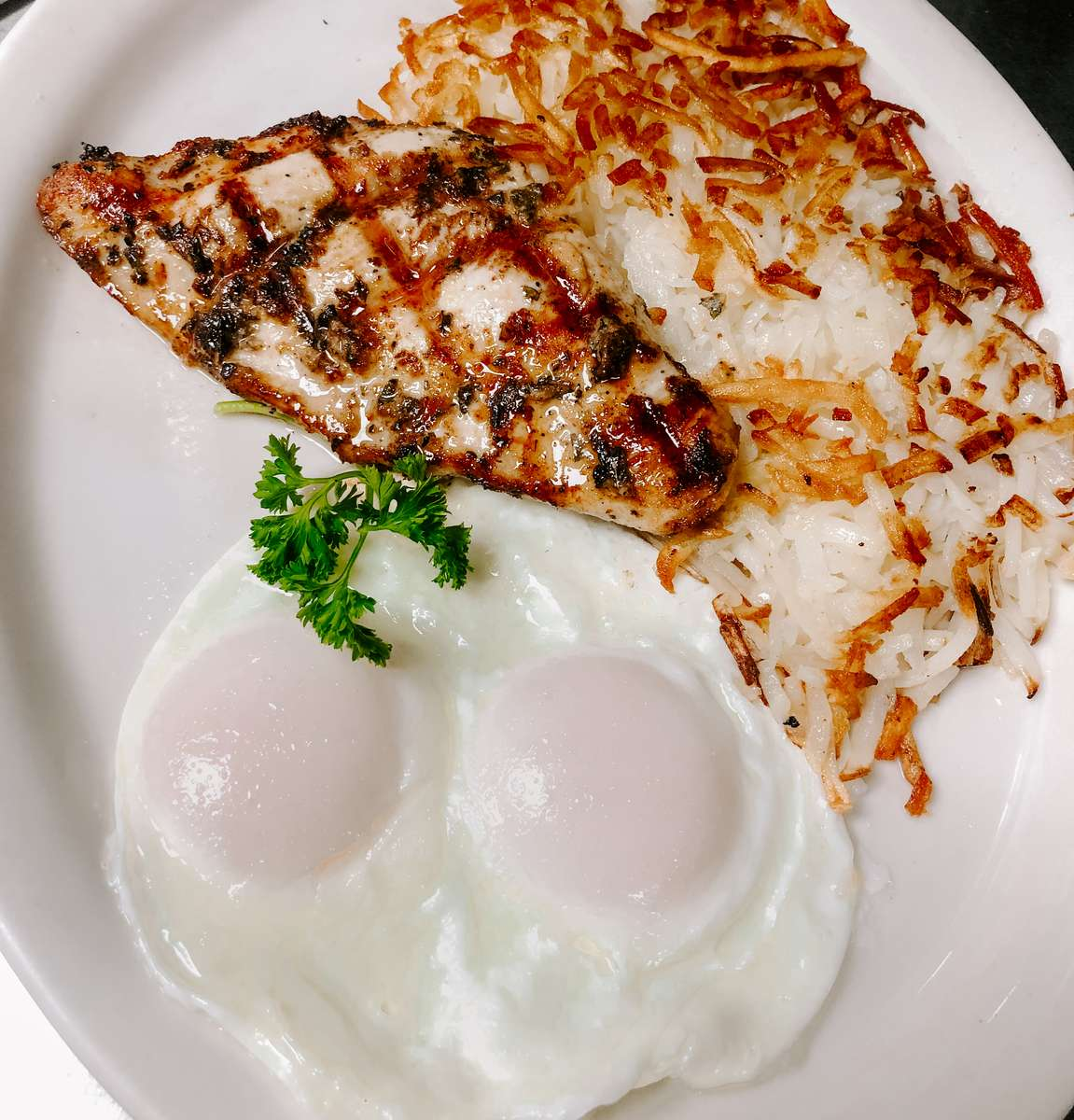 One Chicken Breast and Two Eggs