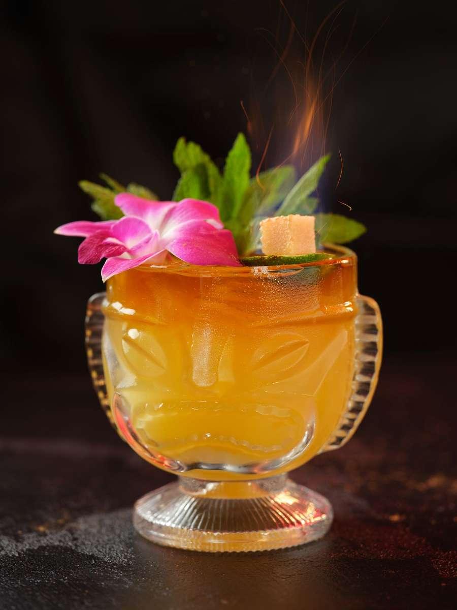 Flaming Mai Tai