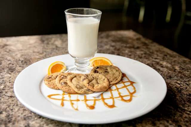 Fresh Baked Chocolate Chip Cookies and Milk