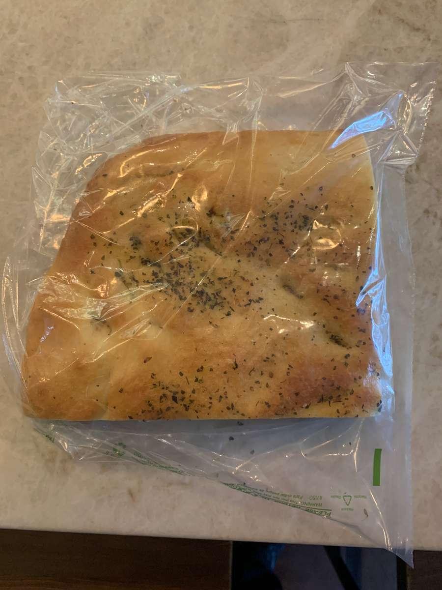 Bernini's focaccia bread 1/4 of a sheet