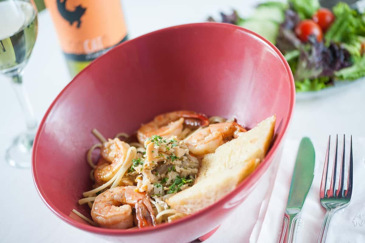 Linguini and Shrimp
