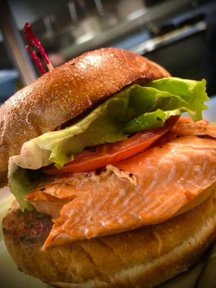 *Wild Alaskan Sockeye Salmon Sandwich