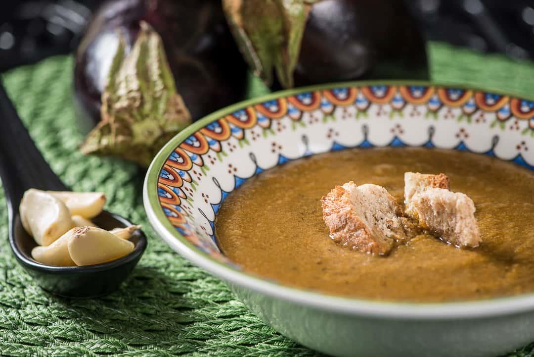Roasted Eggplant & Garlic