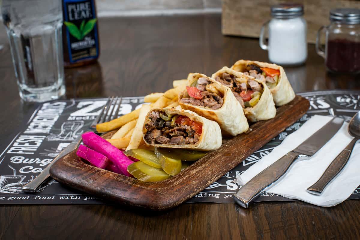 Veal Shawarma Wrap
