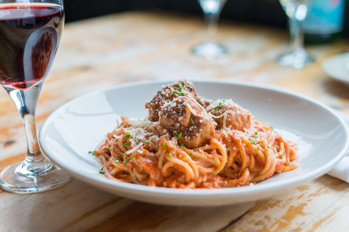 Spaghetti and Mama DeCarli's Meatballs