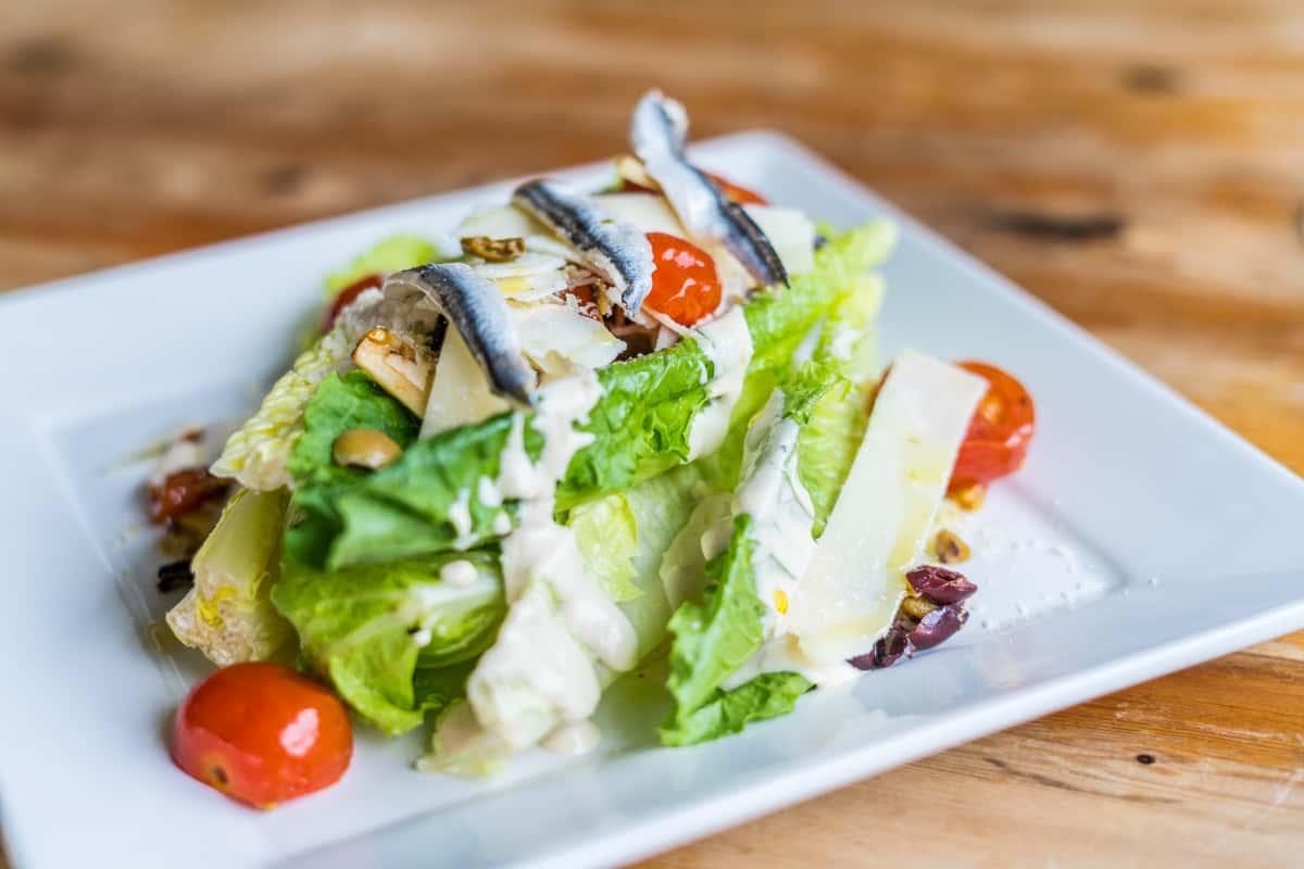Hearts of Romaine Caesar Salad
