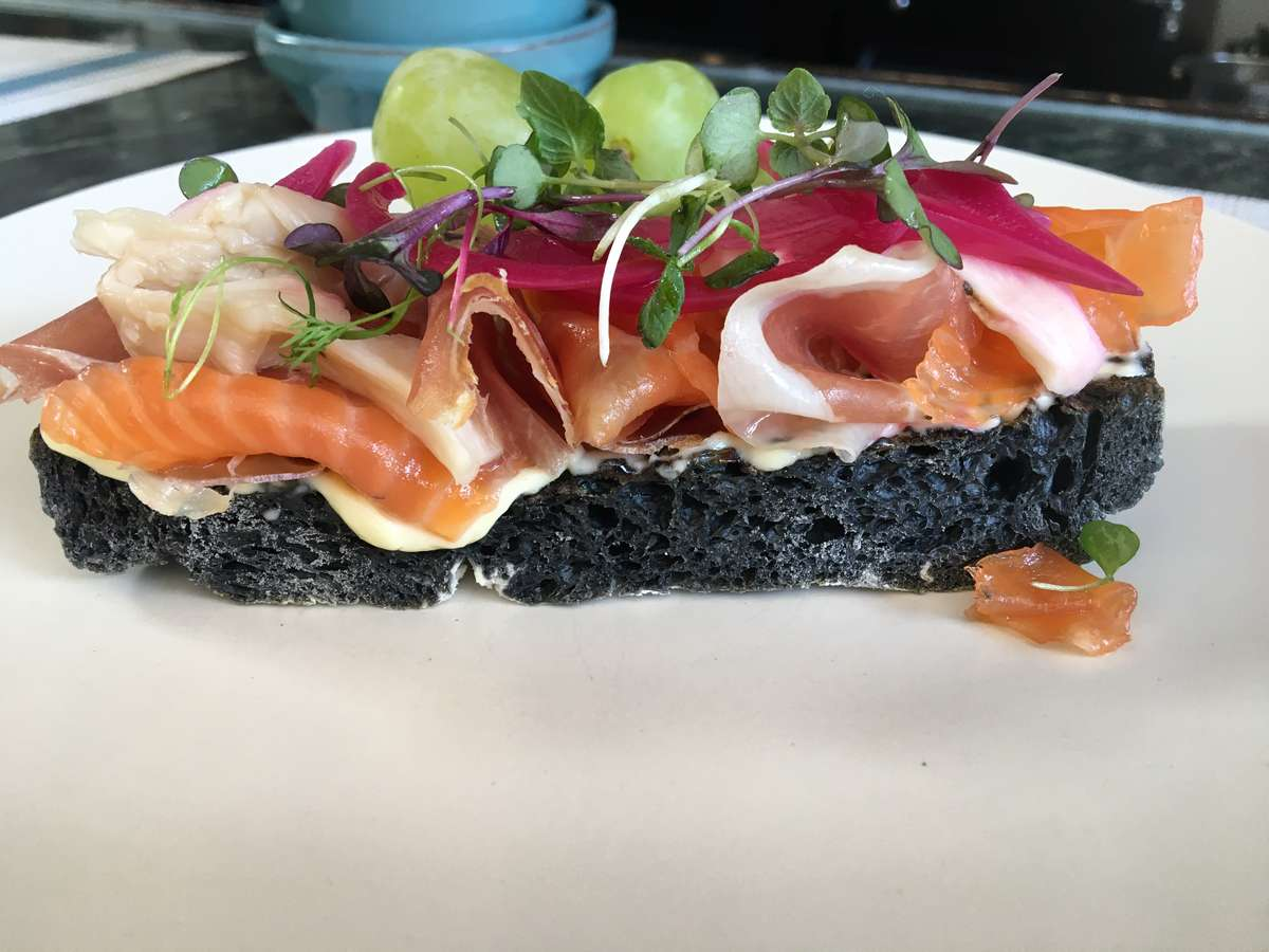 Salmon and Parma Toast