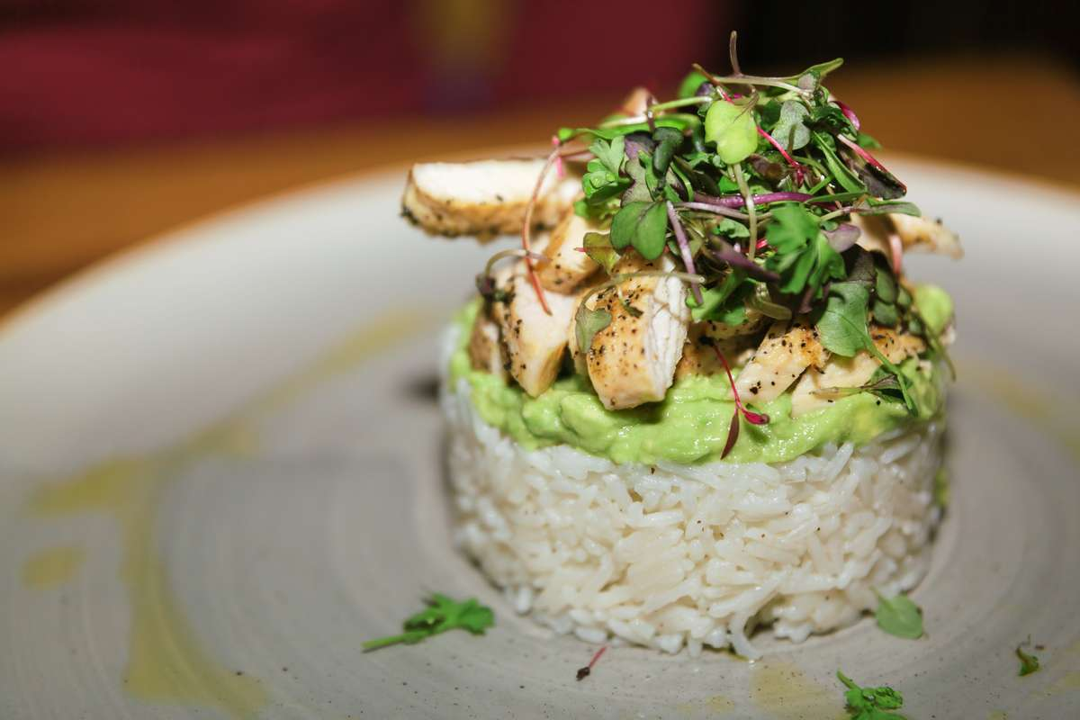 Chicken and Avocado Timabale