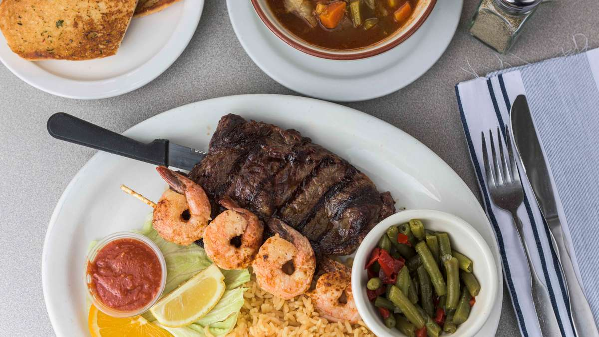 Goldenwest Ribeye and Shrimp Dinner