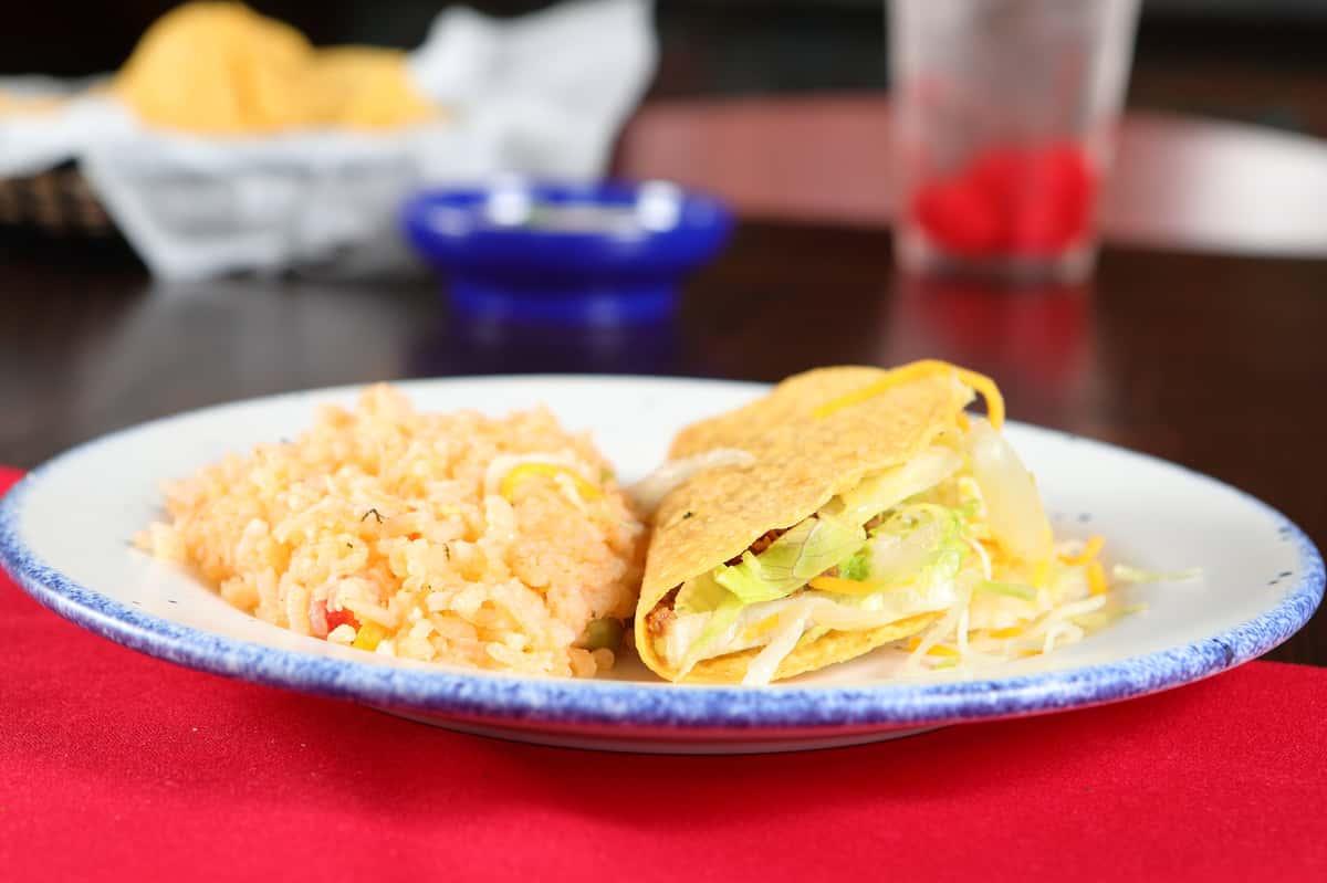 Hard Taco + Rice**