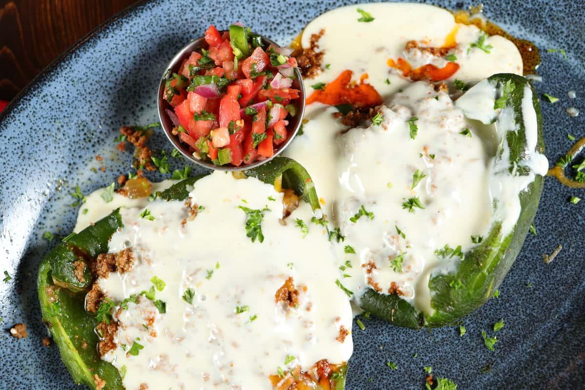 Vegetarian Chile Rellenos