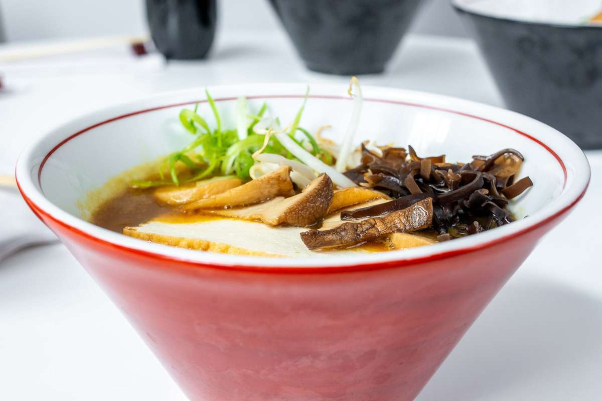 Vegetarian Curry & King Trumpet Mushroom Ramen