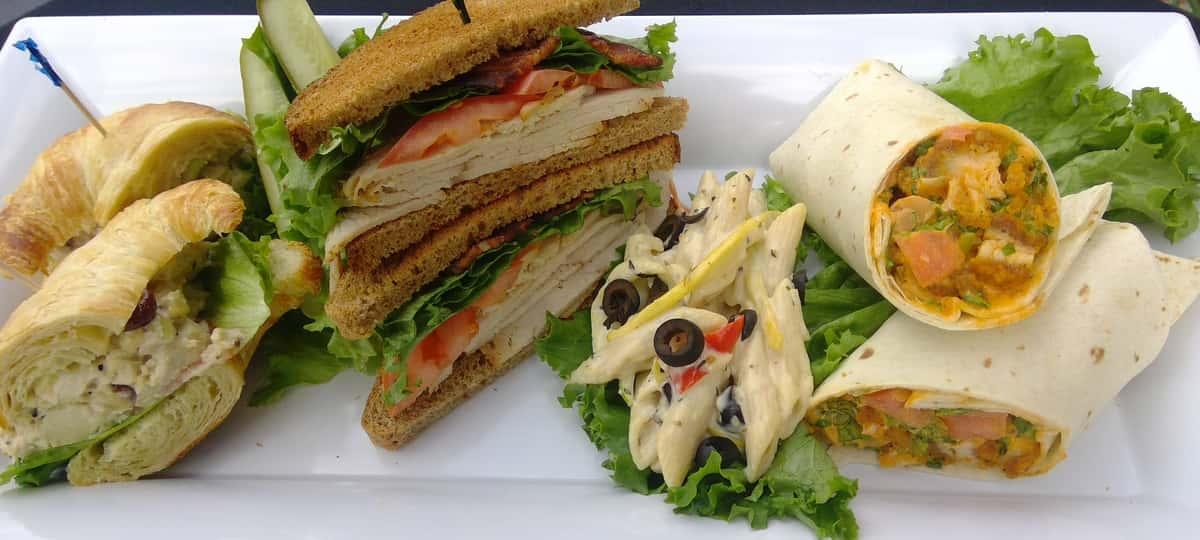 1/2 Sandwich and Salad