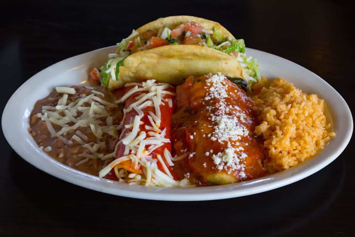 Combo #5 - Enchilada, Chile Relleno, Crispy Taco