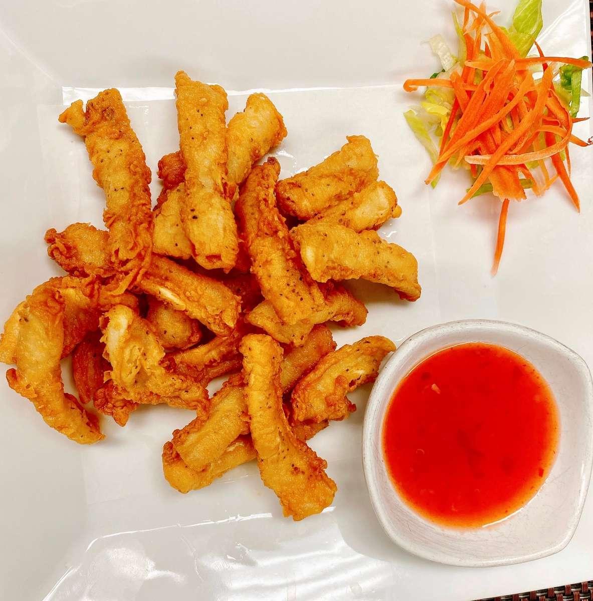 A2. Pla Meuk Tod ( Fried Calamari)