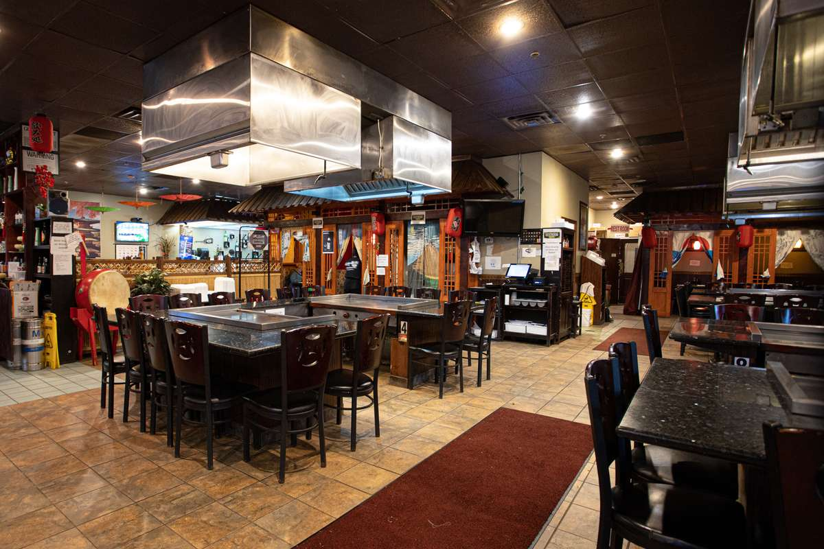 Interior dining and cooking areas at Fuji Grill