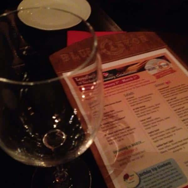 menu and wine glass