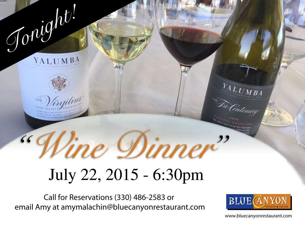 July wine Dinner flyer