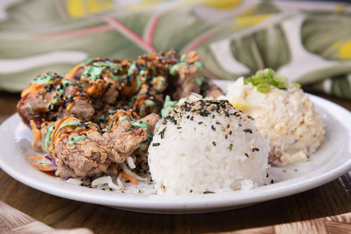 Chicken and rice dish