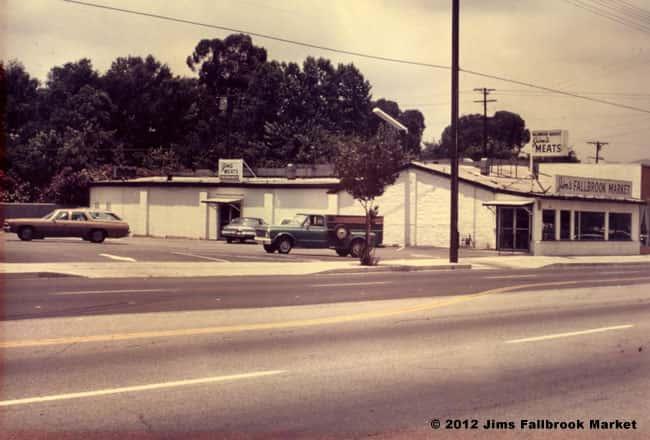 Jim's Fallbrook Market vintage exterior