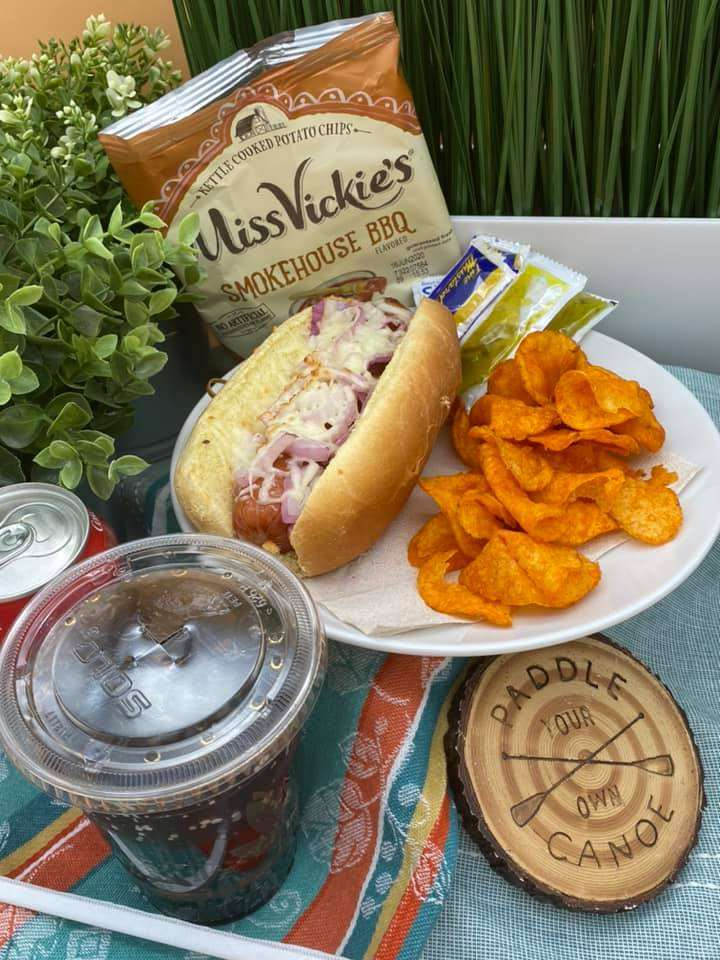 1/4 lb Hot Dog or Sausage & Side