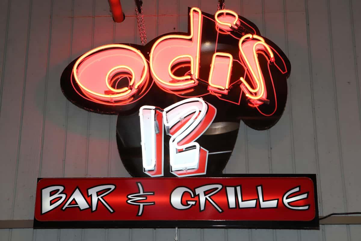 odis 12 neon sign