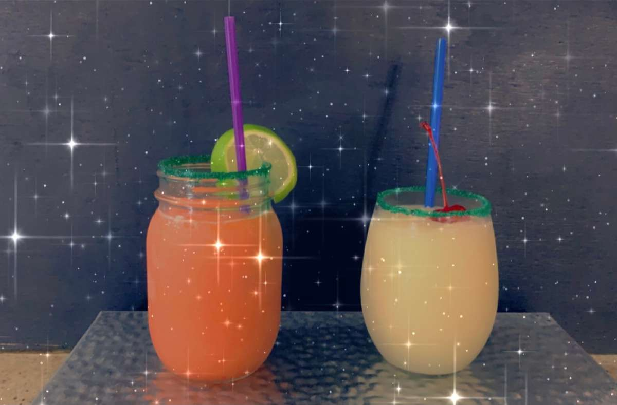 Fresh fruit wine margaritas -available for dine in !