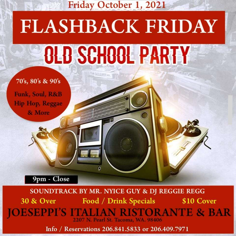 Mr. Nyice Guy & Dj Reggie Regg playing their Flashback Friday Old School mix at Piacere, The Lounge at Joeseppi's Italian Ristorante in Tacoma, WA